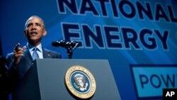 Obama tokom sinoćenjeg govora na Nacionalnom samitu o čistoj energiji u Las Vegasu