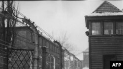 Нацистский концлагерь Освенцим в Польше. Лагерь был освобожден в январе 1945 г. наступающими войсками Красной Армии (архивное фото)