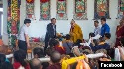 達賴喇嘛會晤中國和尚資料照。