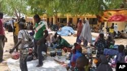 Des réfugiés fuyant les attaques de Boko haram à Gaidam, Nigeria, 6 mai 2015
