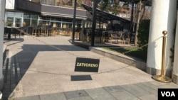 Empty streets of Banja Luka due coronavirus