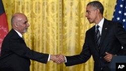 Barack Obama se reunió con el presidente afgano, Ashraf Ghani, en la Casa Blanca.