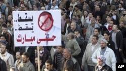 2月8日埃及各地继续举行反穆巴拉克的抗议活动