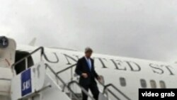 美国国务卿克里(美国之音视频截图)