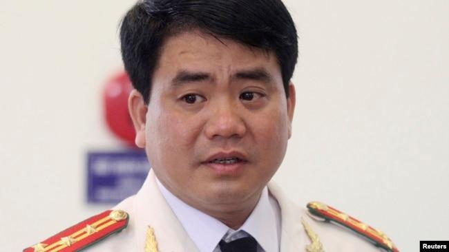 Ông Nguyễn Đức Chung thời còn làm Giám đốc Công an TP Hà Nội năm 2013.