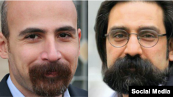 Majzooban Noor, an Iranian news outlet covering Iran's Gonabadi Dervish religious minority, says two of its editors, Reza Entesari, right, and Mostafa Abdi, left, have received lengthy prison terms for involvement in February anti-government protests in Tehran.