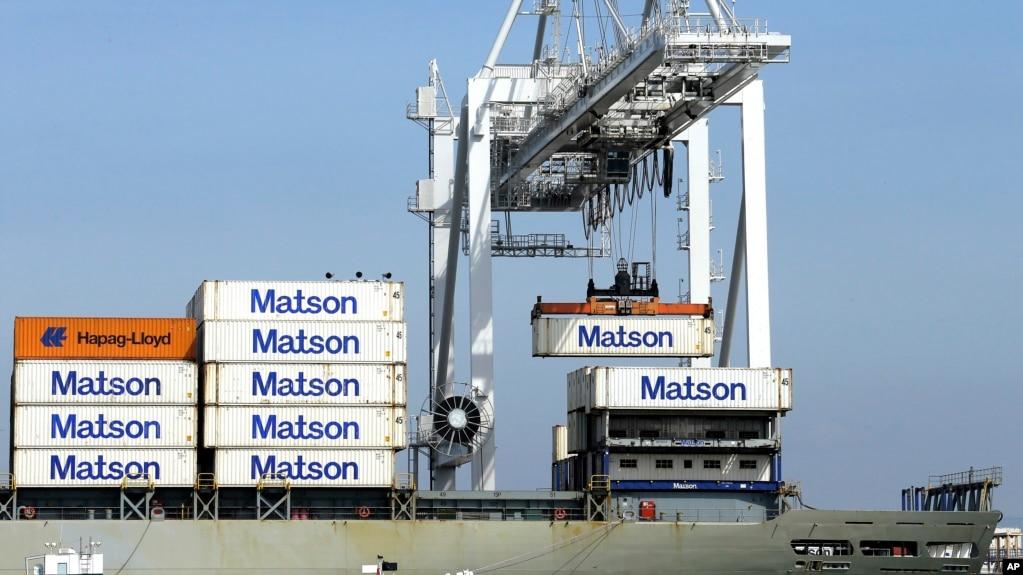 Contenedores son cargados en el Puerto de Oakland, California. Foto Archivo. 2 de marzo, de 2016.