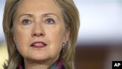 US Secretary of State Hillary Clinton discussing the release of thousands of secret government documents (File Photo)