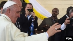 The Pope Speaks with Kenyans in Nairobi's Kangemi Slum