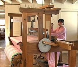 Jane Tonella, who hopes to be a doctor, learned how to weave on a traditional loom to earn her tuition at Berea College.