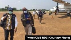 Ba experts ya OMS ya bitumba na Ebola bakomi na Beni, na Nord-Kivu, RDC, 11 février 2021. (Twitter/OMS)