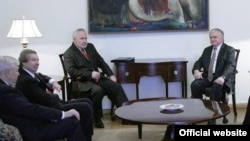 Armenan FM Nalbandian Meeting with OSCE Minsk Group Co-Chairs, Yerevan, December 16, 2013