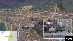 MAP: Kaskas neighborhood of Beirut, Lebanon