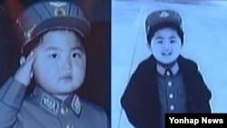 김정은 북한 노동당 위원장의 4~5세 때 모습을 조선중앙TV가 지난 2014년 모란봉악단 공연 영상에서 공개했다. (자료사진)