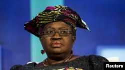 La candidate pour la présidence de l'OMC Okonjo-Iweala, ancienne ministre des finances du Nigeria et ancienne No.2 à la Banque mondiale. REUTERS/Lucas Jackson/archives