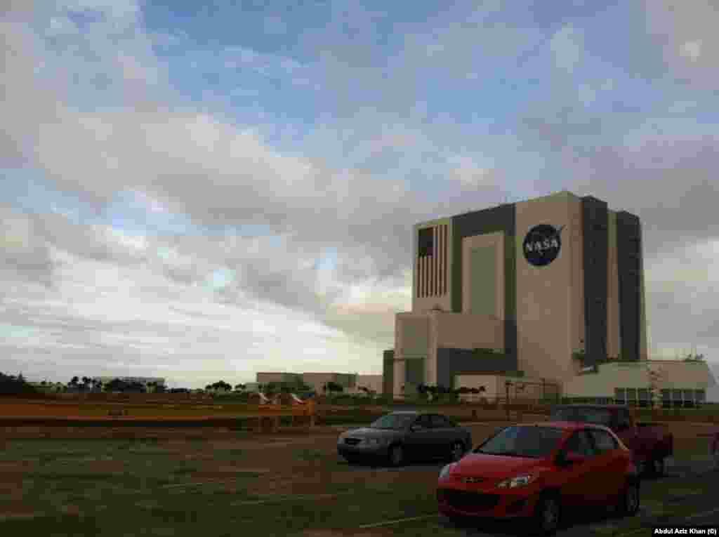 """امریکی خلائی ادارے """"ناسا"""" کی عمارت کا ایک منظر"""