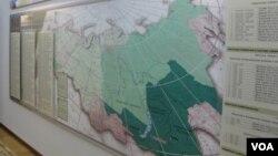 后贝加尔边疆区同中国相接壤,主要包括赤塔州,毗邻贝加尔湖畔的俄罗斯布里亚特共和国(美国之音白桦拍摄)