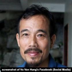 """Nhà hoạt động Vũ Văn Hùng vừa bị kết án 1 năm tù giam vì tội """"cố ý gây thương tích""""."""