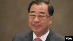 台湾亚东关系协会会长廖了以( 美国之音 张佩芝拍摄 )