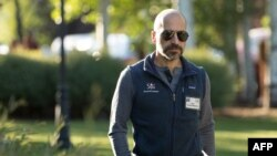 FILE - Dara Khosrowshahi, chief executive officer of Uber and former CEO of Expedia, Inc., attends the annual Allen & Company Sun Valley Conference on July 7, 2016 in Sun Valley, Idaho.