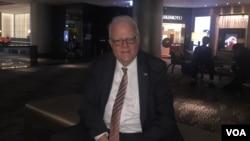 美國聯邦眾議員科學、太空暨科技委員會榮譽主席森森布倫納和該委員會的眾議員魏斯特曼受台灣政府邀請,於2月14日至18日訪問台灣。(美國之音蕭洵拍攝)