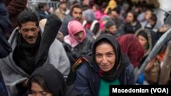 Des migrants en Macédoine...destination finale: l'Allemagne