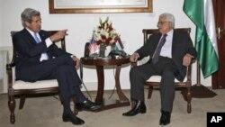 Джон Керри и Махмуд Аббас. Рамалла, Западный берег. 7 апреля 2013 г.