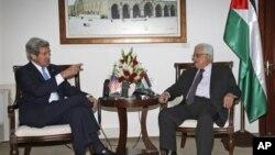 美國國務卿克里與4月7日與巴勒斯坦民族權力機構主席阿巴斯會面。