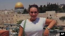 American Jewish college student Dani Stouck in Jerusalem.