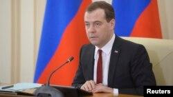 드미트리 메드베데프 러시아 총리가 31일 크림공화국의 수도 심페로폴을 방문했다.
