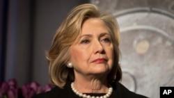 FILE - Hillary Rodham Clinton is seen in New York, Nov. 21, 2014.
