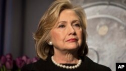 FILE - Hillary Rodham Clinton.