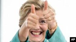 Ứng viên Tổng thống của Đảng Dân Chủ Hillary Clinton.