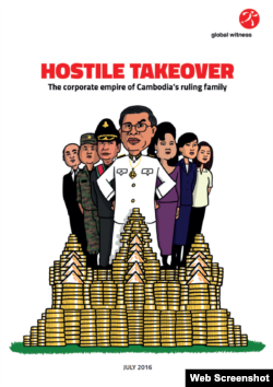 A screenshot of Global Witness's Hostile Takeover cover. (Courtesy of Global Witness)