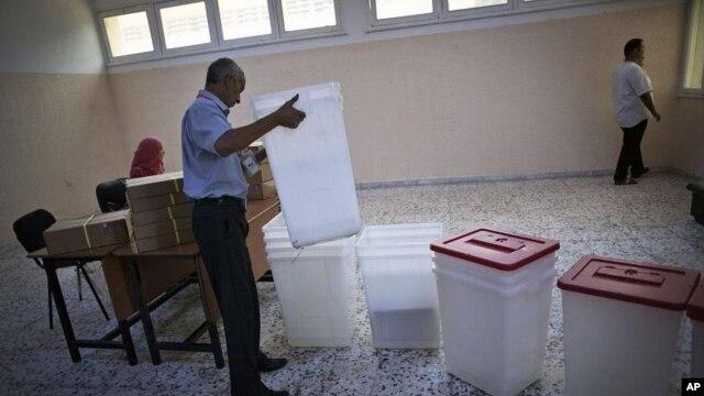Một phòng phiếu tại Tripoli, Libya, ngày 6 tháng 6, 2012.