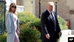 Президент США Дональд Трамп с супругой. Вашингтон, округ Колумбия. 3 сентября 2017 г.