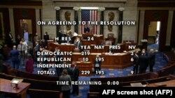 Votação de destituição, Câmara dos Representantes, Washington, EUA