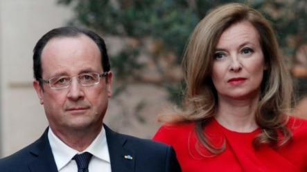 Fransa Cumhurbaşkanı François Hollande, eski sevgilisi Valerie Trierweiler ile