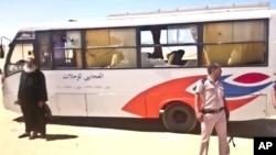 埃及被袭大巴照片