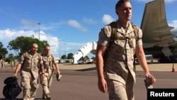 美国海军陆战队在澳大利亚北部的达尔文着陆部署(2017年4月18日)
