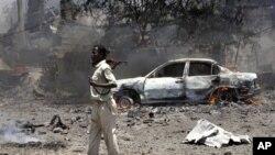 소말리아 폭탄테러 현장