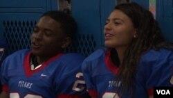 Briana Smith plays football for TC Williams High School in Alexandria, Virginia.