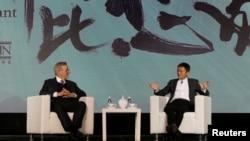 中国电子商务巨头阿里巴巴与好莱坞电影大师斯皮尔伯格(Steven Spielberg)的安柏林合伙人(Amblin Partners)公司达成合作协议(2016年10月9日)。