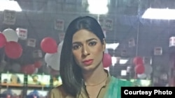 Marvia Malik, Pakistan's first transgender news anchor. (Photo Courtesy: Kohenoor News)