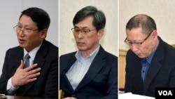 북한에 장기간 억류된 한국인 김정욱, 김국기, 최춘길 씨. 김정욱 씨는 지난 2014년 5월 평양에서 열린 기자회견, 김국기 씨와 최춘길 씨는 지난 2015년 3월 기자회견 모습이다. 📷AP(왼쪽), Reuters(가운데, 오른쪽).