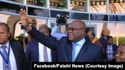 Le président Félix Tshisekedi à son arrivée à Widhoek, Namibie, le 26 février 2019. (Facebook/Fatshi News)