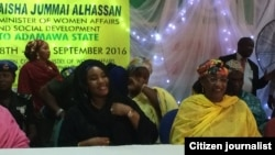 ADAMAWA: Ministar Mata da jin dadin jama'a Aisha Jummai Alhassan a hannun dama a taron mata da aka yi a Yola