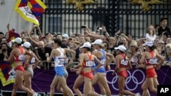 Tibetan Woman Wins Bronze in Women's 20-Kilometer Race Walk
