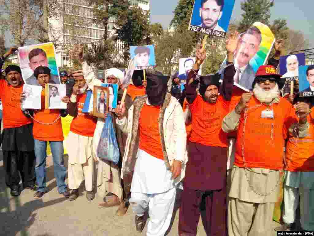انسانی حقوق کے عالمی دن کے موقع پر پاکستان میں لاپتا افراد کی بازیابی کے لیے ان کے لواحقین نے اسلام آباد میں اجتجاجی مظاہرہ کیا۔