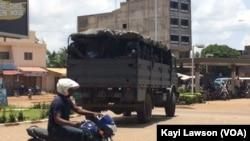 Les premiers arrivants aux rassemblements ont été dispersés Lomé, Togo, 11 avril 2018. (VOA/Kawi Lawson).